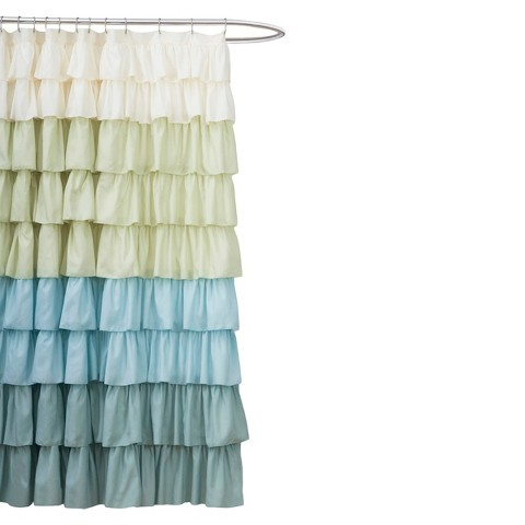 lush d cor large ruffle shower curtain product details page