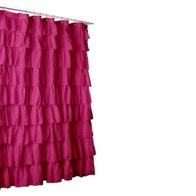 Lush Décor Large Ruffle Shower Curtain - Pink (6'x6')