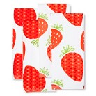 Room Essentials™ 4 Pk Strawberry Terry Towels - Red