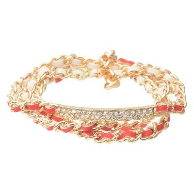 Ecom Fashion Bracelet Chain RED Brass