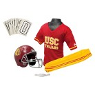 Franklin Sports USC Trojans NCAA Football Helmet/Uniform Set for Kids
