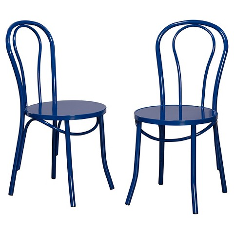 Vintage Cafe Dining Chair Metal Set of 2 TMS Tar