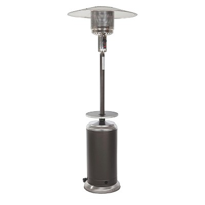 Fire Sense Mocha and Stainless Steel Standard Series Patio Heater with Adjustable Table