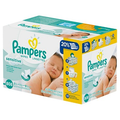 Pampers Sensitive Wipes 13x Refill - 808 Count