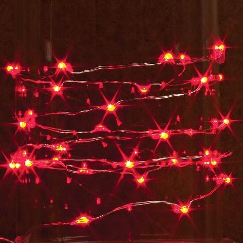 10 ft. LED String Light with Timer - Red : Target