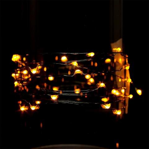 9 ft. LED String Light - Amber Yellow : Target