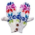 MUK LUKS® Colorful Snowflake Button Mitten