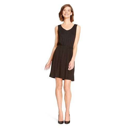 Womens-Easy-Waist-Dress-Merona-Ebony