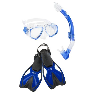 Speedo Junior Reef Scout Mask, Snorkel, Fin Set