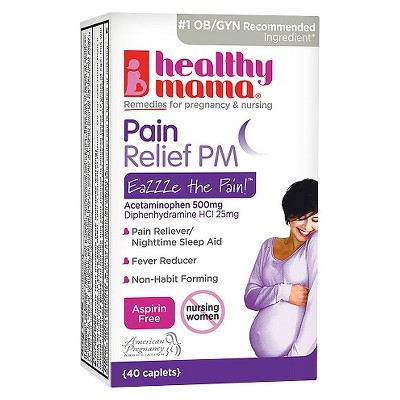 Healthy Mama Aspirin Free PM Pain Relief Caplets - 40 Count