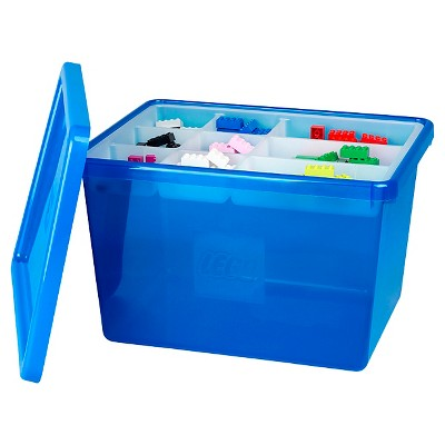 LEGO® Large Storage Bin with Sorting Tray - Blue