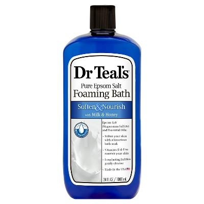 Dr Teal's Pure Epsom Salt Foaming Milk Bath - 34 oz