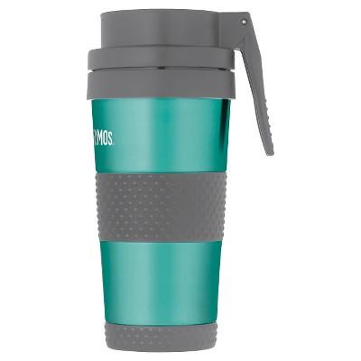 Portable Beverage Mug Thermos 14oz. Teal