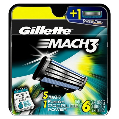 Gillette Mach3 Manual Cartridge - 6 Count
