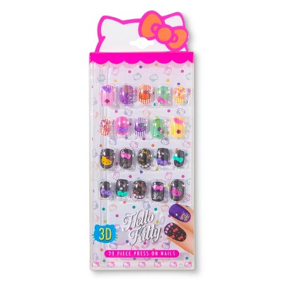 Hello KItty 20ct 3-D Press On Nails