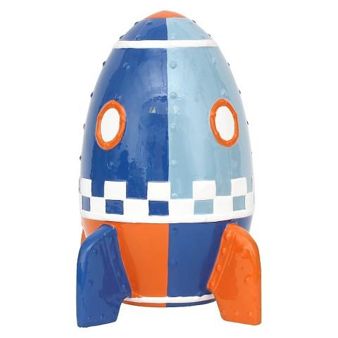 Circo rocket ship coin bank target - Rocket piggy bank ...