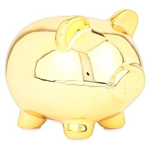 Coin Banks Target Gold Piggy Mini Coin Bank