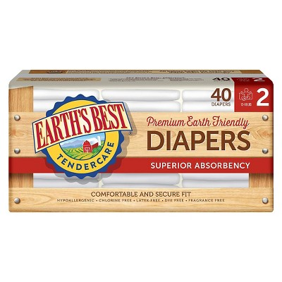 Earth's Best Tender Care Diapers Jumbo Pack - Size 2  (40 Count)
