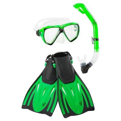 Speedo Adult Hydroscope Mask, Snorkel & Fins