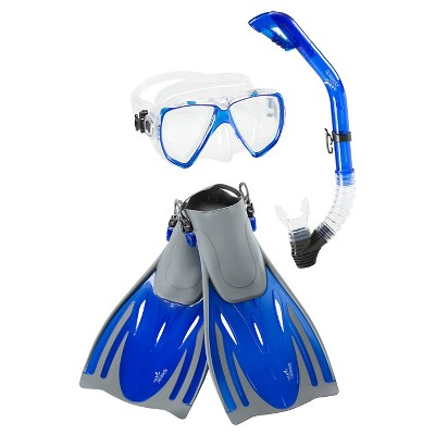 Speedo Adult Hydroscope Mask, Snorkel & Fins