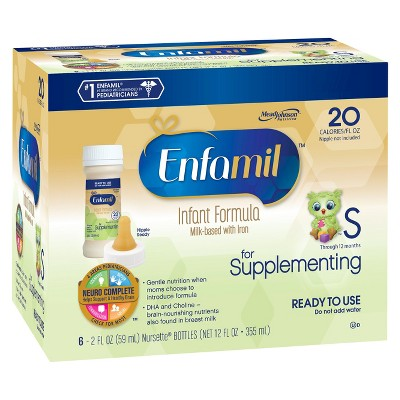 Enfamil for Supplementing Infant Formula  Ready to Use Nursette Bottles - 2floz (6 Pack)