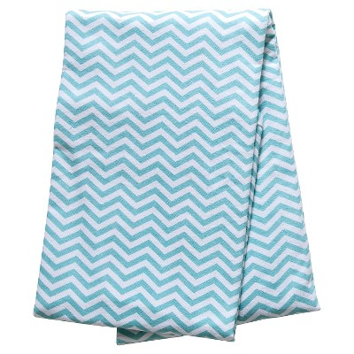 Trend Lab Mint Chevron Flannel Swaddle Blanket