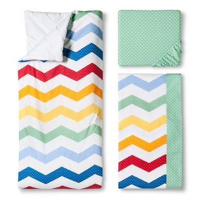 Trend Lab 3pc Crib Bedding Set – Happy Chevron