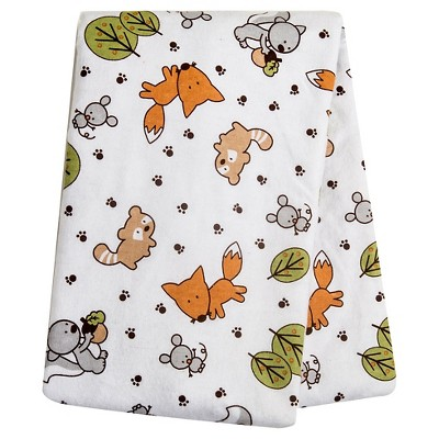 Trend Lab Forest Animal Flannel Swaddle Blanket