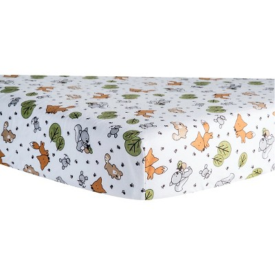 Trend Lab Forest Animal Flannel Crib Sheet