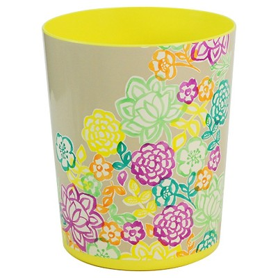 Xhil Floral Waste Can, 6.95 L Multicolor
