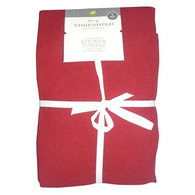 Threshold™ Flour Sack Kitchen Towel 4-pack - Red