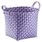 "Xhil Decorative Basket, Small 12""x12""  Pruple and Violet"