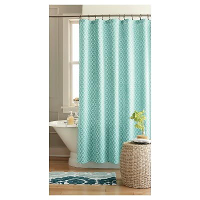 Threshold™ Geo Shower Curtain - Green/Blue