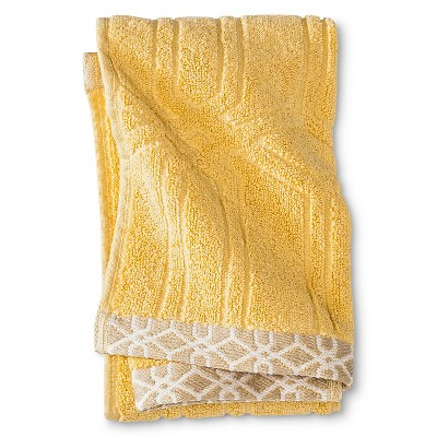 Threshold™ Geo Hand Towel - Yellow