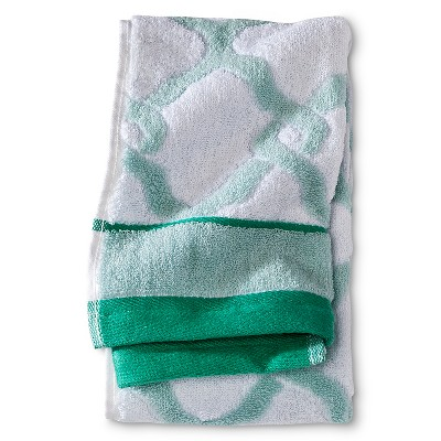 Threshold™ Lattice Hand Towel - Batik Green/True White