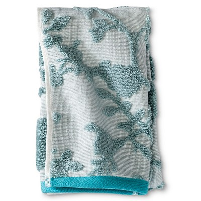 Threshold™ Textured Floral Hand Towel - Blue