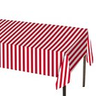 Table Cover Red and White Stripe 1 Count - Spritz™