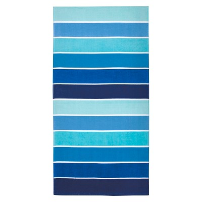 Beach Towel  Basics Cool Color Blocked Stripe