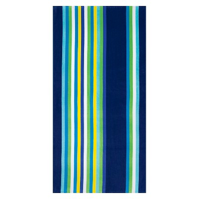 Beach Towel Basics Cool Vertical Stripe