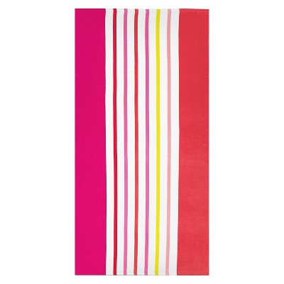 Beach Towel Basics Warm Vertical Stripe