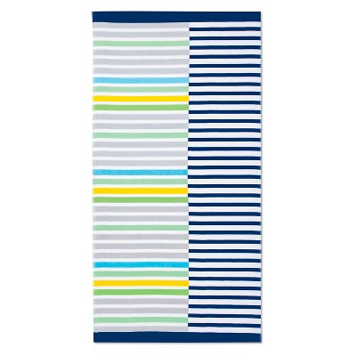 Beach Towel Basics Mash-Up Stripes Cool