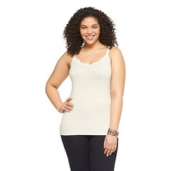 Women's Plus Size Lace Tank Top - Mossimo Supply Co.