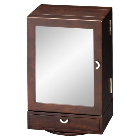 homepointe revolving wooden jewelry box brown target