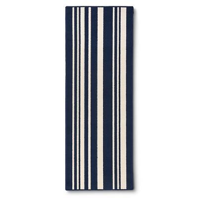 "Maples Stripe Runner - Indigo (1'10""x5')"