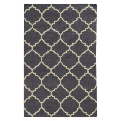 Pantone Matrix 4280F 100% Wool Flatweave Area Rug - Gray (5'x8')