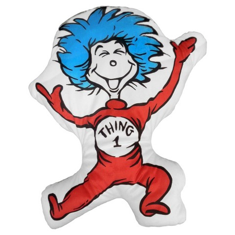 Dr. Suess' Thing 1 Cuddle Buddy Pillow