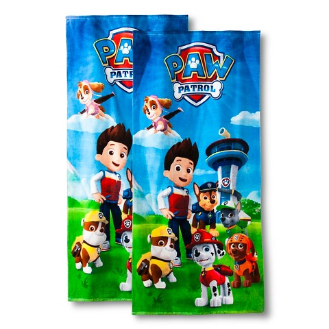Paw patrol beach towel 2 pk product details page