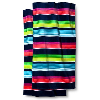 XL Stripe 2-pk. Beach Towel