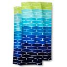 Honeycomb 2-pk. Beach Towel - Blue/Green