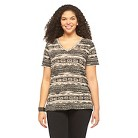Plus Size Boyfriend V Neck Tee-Mossimo Supply Co.